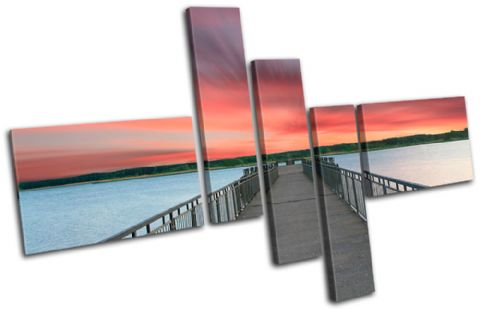 Lake Jetty Pier Sunset Seascape - 13-1537(00B)-MP18-LO